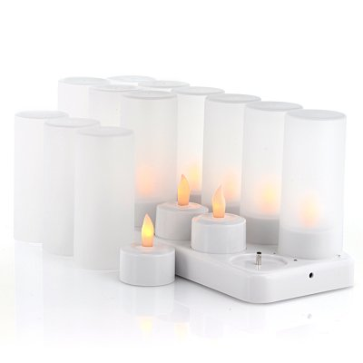 x12LED Candles with Charging Dock - Cozy LEDs