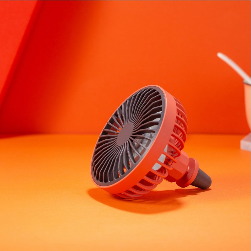 LED Car Air Outlet Fan USB Portable Mini Fan red