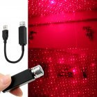 LED Car Roof Star Night Light Projector Atmosphere Galaxy Lamp USB Decorative Lighting Effects red