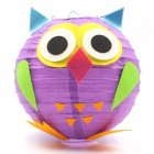 LED Cartoon Animals Paper Chinese Lantern DIY Handcrafts for Child Birthday Party Owl