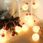 LED Charming Christmas Snowman Shape String Light for Home Garden Party Christmas Decoration 3 meters 20 LEDs