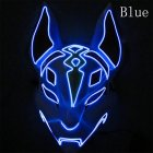 LED Cold Light Mask for Party Festive Christmas Halloween Costume Part Bar Dress Up  Standard mask blue