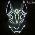 LED Cold Light Mask for Party Festive Christmas Halloween Costume Part Bar Dress Up  Standard mask white