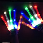 LED Color Changing Flashing Skeleton Gloves Novelty Halloween Costume Party Concert Prop Colorful
