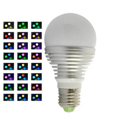 Color Changing 3W LED Light Bulb