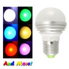 LED Color Changing Light Bulb with Remote for use in any standard incandescent socket