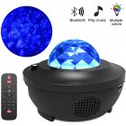 LED Colorful Starry Projector Blueteeth USB Voice Control Music Player Projection Lamp black