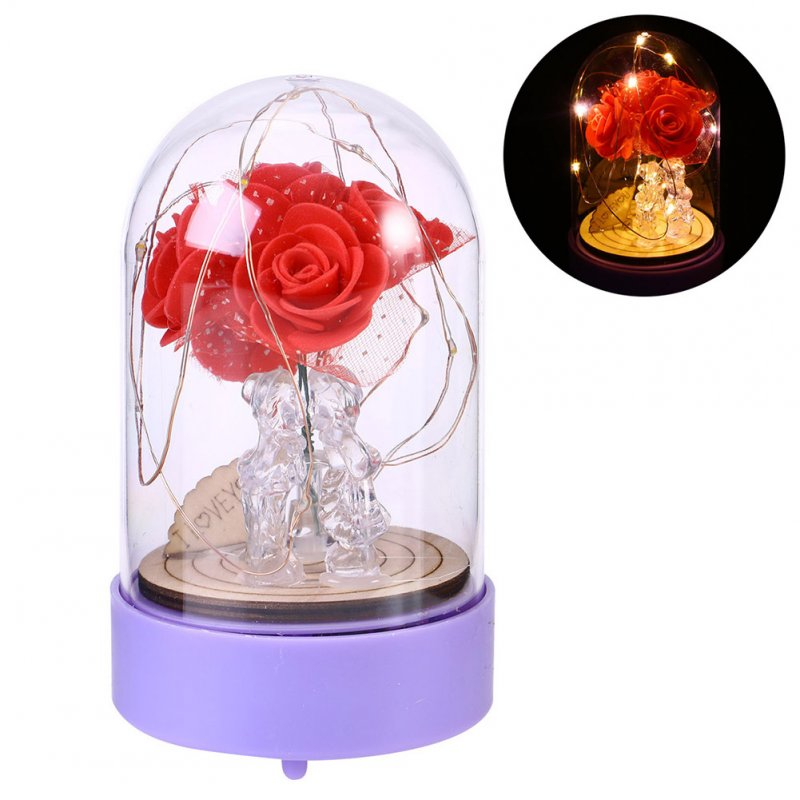 LED Copper Wire Decorative Music Night Light for Valentine Bedroom Tabletop Decor