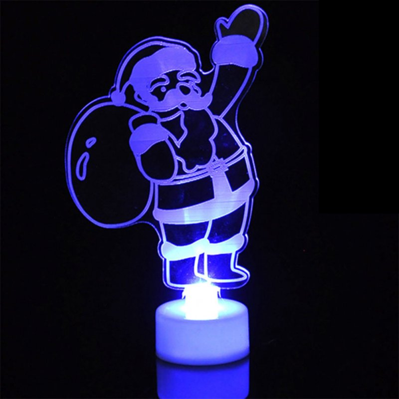 LED Cute Colorful Christmas Series Night Light for Xmas Home Desktop Decoration Light Santa Claus