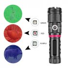 LED Flash Light XHP90+COB+Red Blue Green Light Multifunction Flashlight black_Model 1680