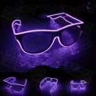 LED Flashing EL Luminous Glasses Party Decorative Lighting Classic Gift Bright Prop Light Up Party Glasses Party Decor Rose purple