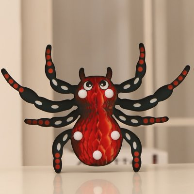LED Halloween Decorative Spider Shape Night Light for Party Supplies Warm White_Yellow spider