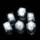 LED Ice Cubes Shape Glowing in Water Light Party Ball Luminous Flash Light Wedding Festival Bar Wine Glass Decoration 12PCS white
