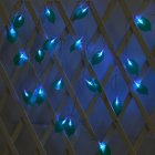 LED Leaves Shape String Light for Indoor Battery Box Powered Decoration blue