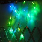 LED Leaves Shape String Light for Indoor Battery Box Powered Decoration colors