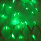 LED Leaves Shape String Light for Indoor Battery Box Powered Decoration White