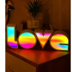 LED Light Board Love Modeling Lamp Energy Saving Eco Friendly Holiday Lighting Party Supply