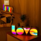LED Light Board Love Modeling Lamp Energy Saving Eco-Friendly Holiday Lighting Party Supply