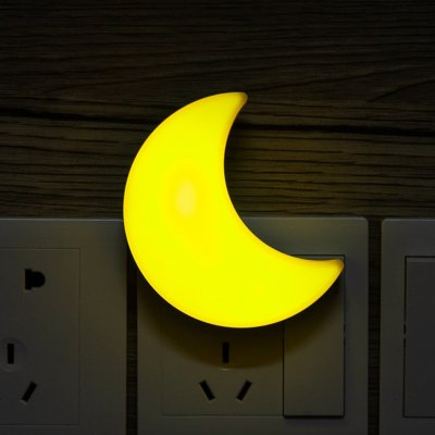 LED Sleeping Night Light - US Plug (Yellow)