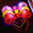 LED Light Up Headbands  Kids 3D Cartoon Glowing Hairband  Children Hair Hoop for Christmas Halloween Gift