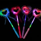 LED Luminous Heart Star Shape Glow Stick Magic Wand Toy  Large fairy stick