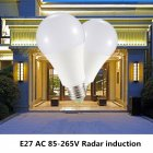 LED Microwave Radar Induction Bulb for Yard Office Home Lighting E27 85-265V Warm white light
