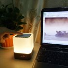 LED Multifunction Colorful Pat Light Night Light with Alarm Clock Bluetooth Voice Box Function for Room Supplies white_USB 5V