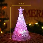 LED Night Light Artificial Crystal Christmas Tree Decoration for Bedroom small
