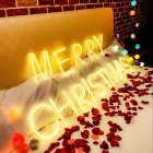 LED Night Light Neon Alphabet Lamp  for Birthday Wedding Party Decor Battery Box Usb Charging E