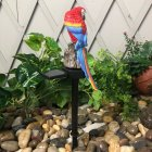LED Outdoor Waterproof Solar Powered Parrot Shape Lawn Lamp for Garden Courtyard red
