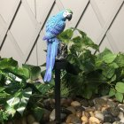 LED Outdoor Waterproof Solar Powered Parrot Shape Lawn Lamp for Garden Courtyard blue