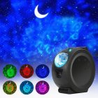 LED Projector Night Light Starry Ocean Wave Projection 6 Colors 360Degree Rotating Lamp for Kids black Without WiFi
