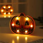 LED Pumpkin Shape Night Light for Halloween Party Decoration Warm White Triangle eye pumpkin