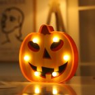 LED Pumpkin Shape Night Light for Halloween Party Decoration Warm White Round eye pumpkin