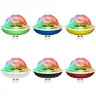 LED RGB Disco Stage Light DC 5V USB Magic Ball Light Sound Activated for Mobile Phone Party Family Decoration white