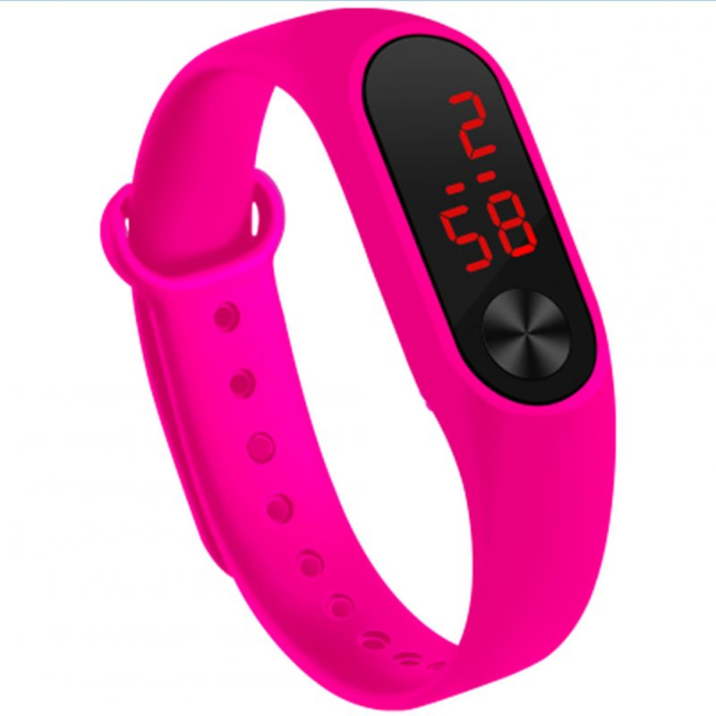 LED Simple Watch Hand Ring Watch Led Sports Fashion Electronic Watch Rose red