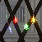 LED Snowflower String Light Battery Powered Christmas Lamp Holiday Party Wedding Decorative Fairy Lights color