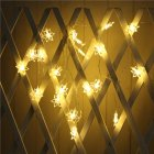 LED Snowflower String Light Battery Powered Christmas Lamp Holiday Party Wedding Decorative Fairy Lights Warm White