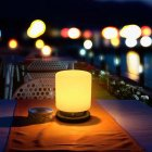LED Solar Bottle Light Silicone USB Rechargeable Camping Lantern for Home Yard Garden Camping Night Light Warm light   colorful