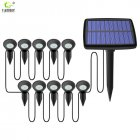 LED Solar Garden Light IP65 Waterproof Solar Lamp Outdoors Landscape Lamp For Outdoor Garden Lawn Solar one with 10 lawn lights