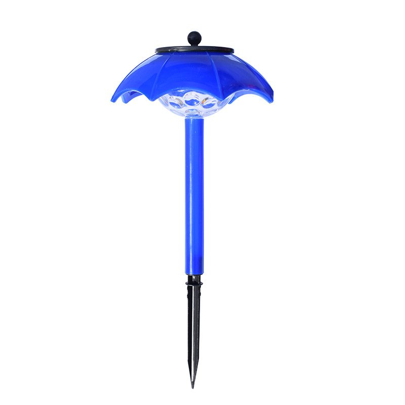 LED Solar Light Umbrella Shape Lawn Lights Outdoor Waterproof Garden Lamp blue