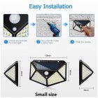 LED Solar Power Wall Light Motion Sensor Waterproof Lamp for Outdoor Garden Yard 100LED small