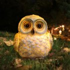 LED Solar-Powered Cartoon Owl Shape Lamp Landscape Ornament  14x11x10.5cm