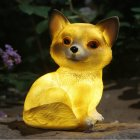 LED Solar Powered Cute Dog Shape Lamp for Outdoor Decoration Warm Lighta 17x12x10cm