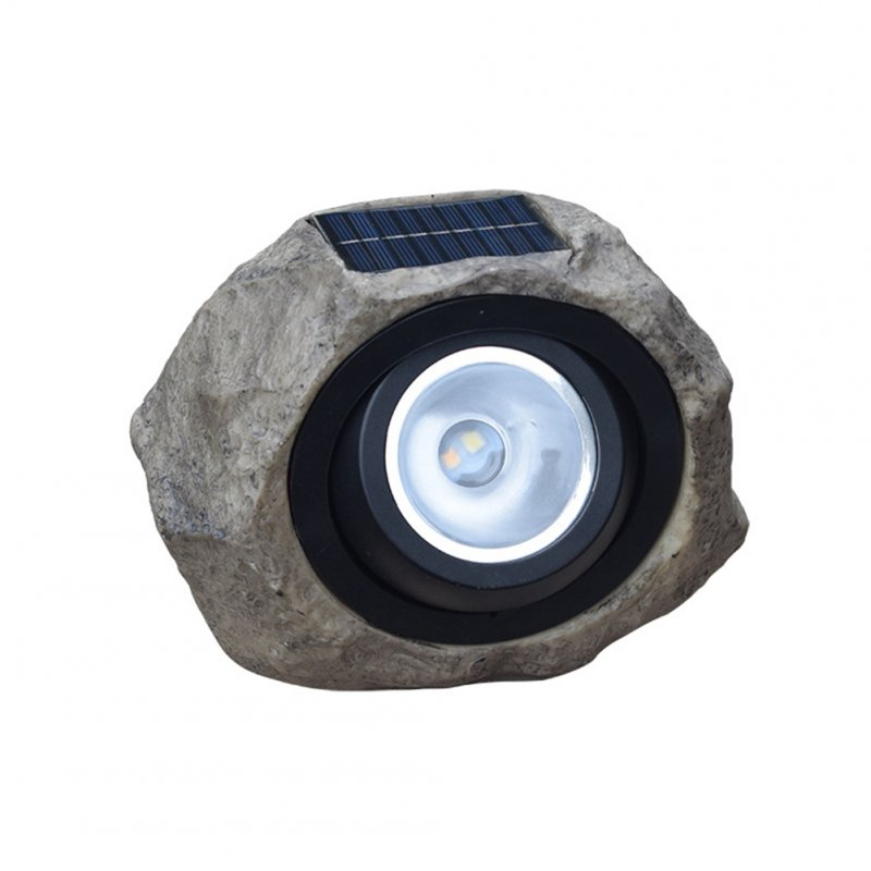 LED Solar Powered Simulation Rock Stone Light Lawn Lamp for Yard Deck Pathway Garden Decor