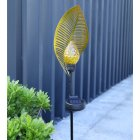 LED Solar Powered Waterproof Light Leaf Shape Outdoor Garden Decor Landscape Lawn Lamp warm light_Solar Leaf