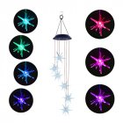 LED Solar Powered Wind Chimes Light Sea Urchin Shape Pendant for Home Garden Decor Colorful