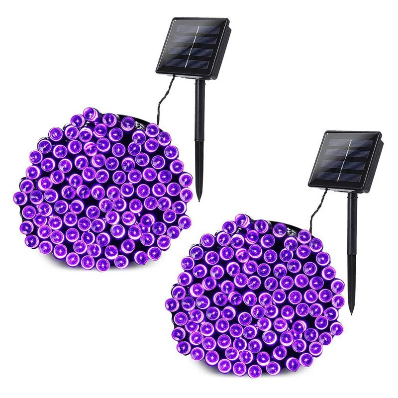 LED Solar String Light Purple Spider Light for Halloween Party Garden Home Yard Decorations led lamp beads (cowhide box packaging)