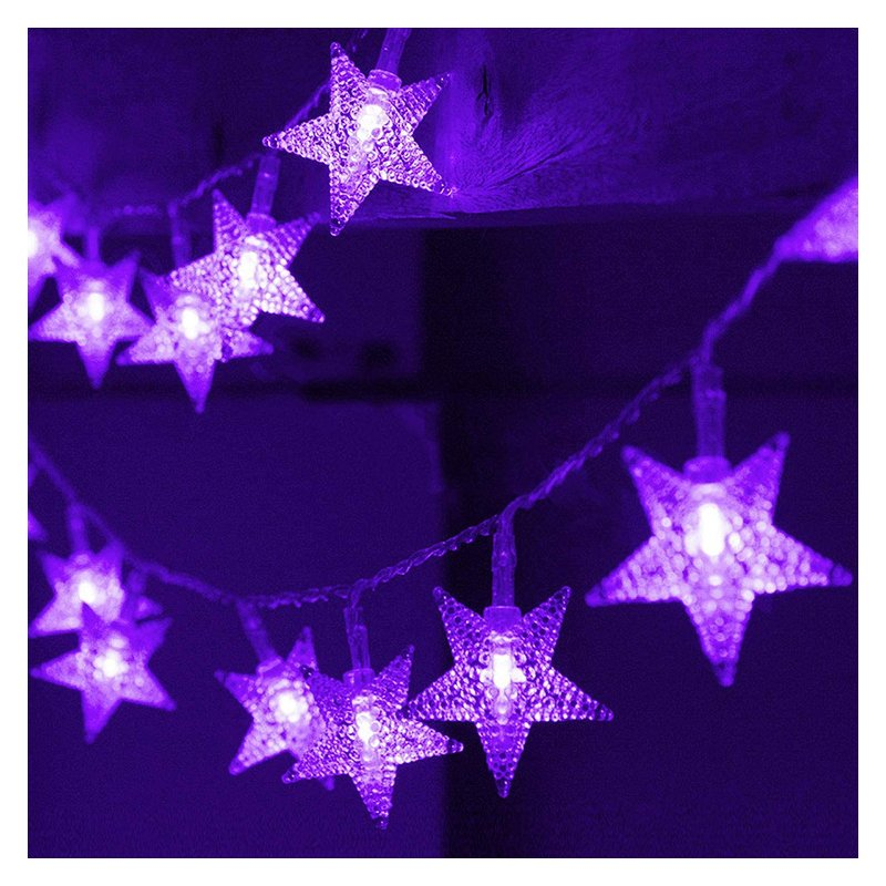 LED Solar String Light Purple Spider Light for Halloween Party Garden Home Yard Decorations Star