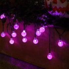 LED Solar String Light Purple Spider Light for Halloween Party Garden Home Yard Decorations Bubble Crystal Ball